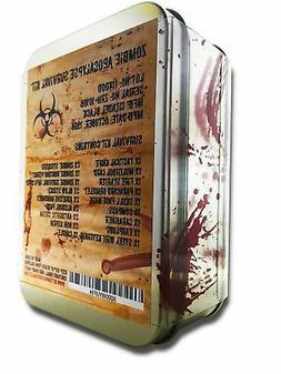 Zombie Apocalypse Survival Kit Knife Fire Starter Bracelet f
